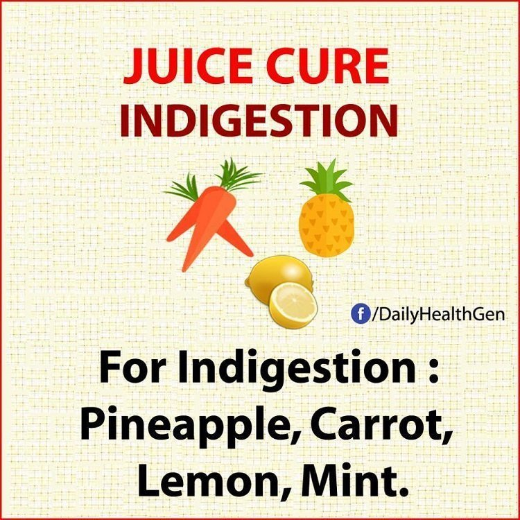 juice cure indigestion