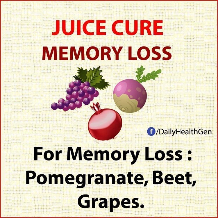 juice cure memory loss
