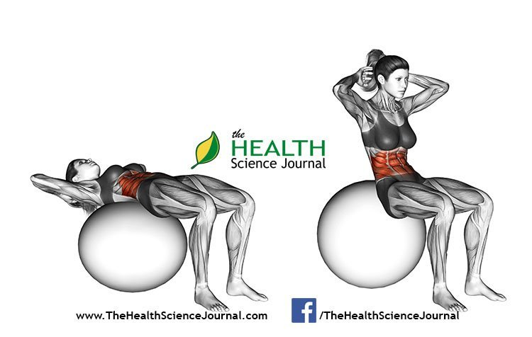 © Sasham | Dreamstime.com - Fitball exercising. Ball Crunch. Female