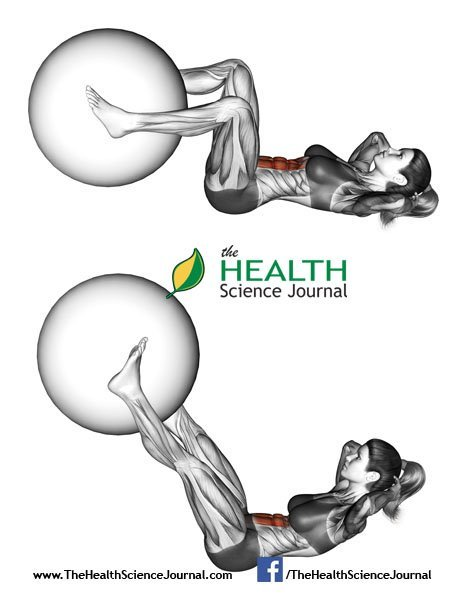 © Sasham | Dreamstime.com - Fitball exercising. Flexion of the trunk with the leg extension with ball. Female