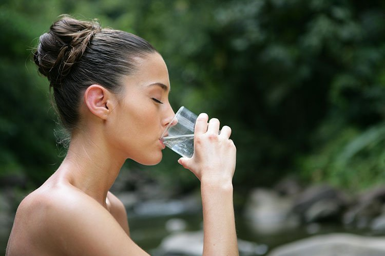 water-young woman drink