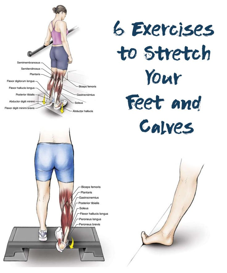 6 Exercises To Stretch Your Toes Ankles Soleus And Gastrocnemius