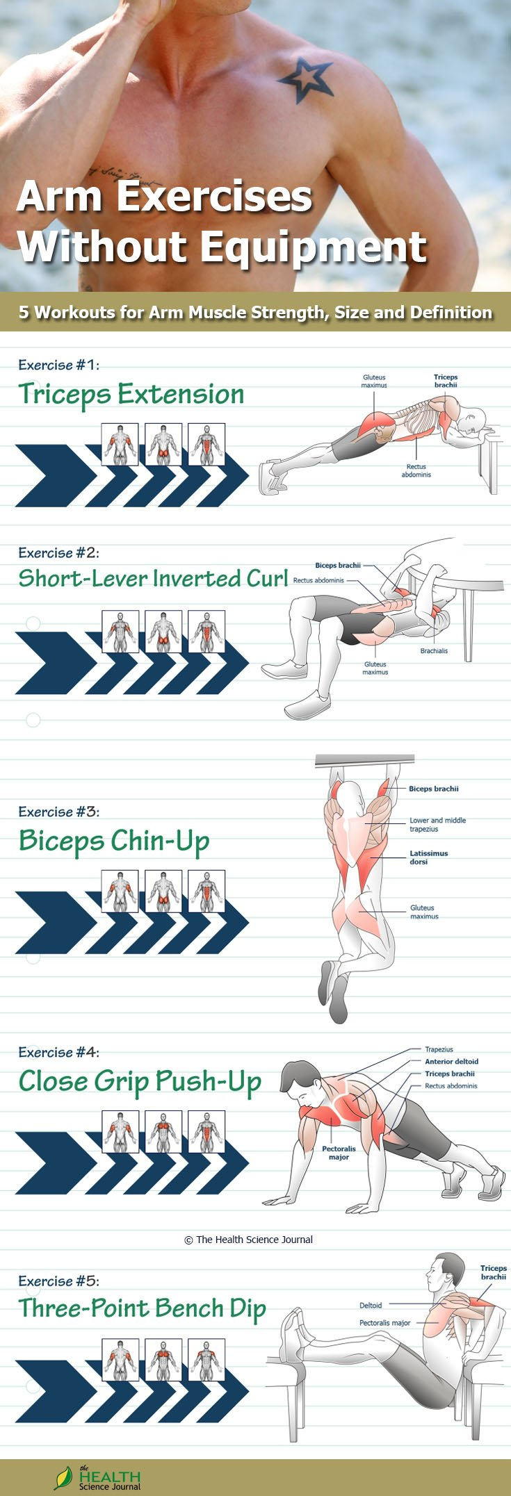 Bodyweight Tricep Exercises and Bodyweight Bicep Exercises ...