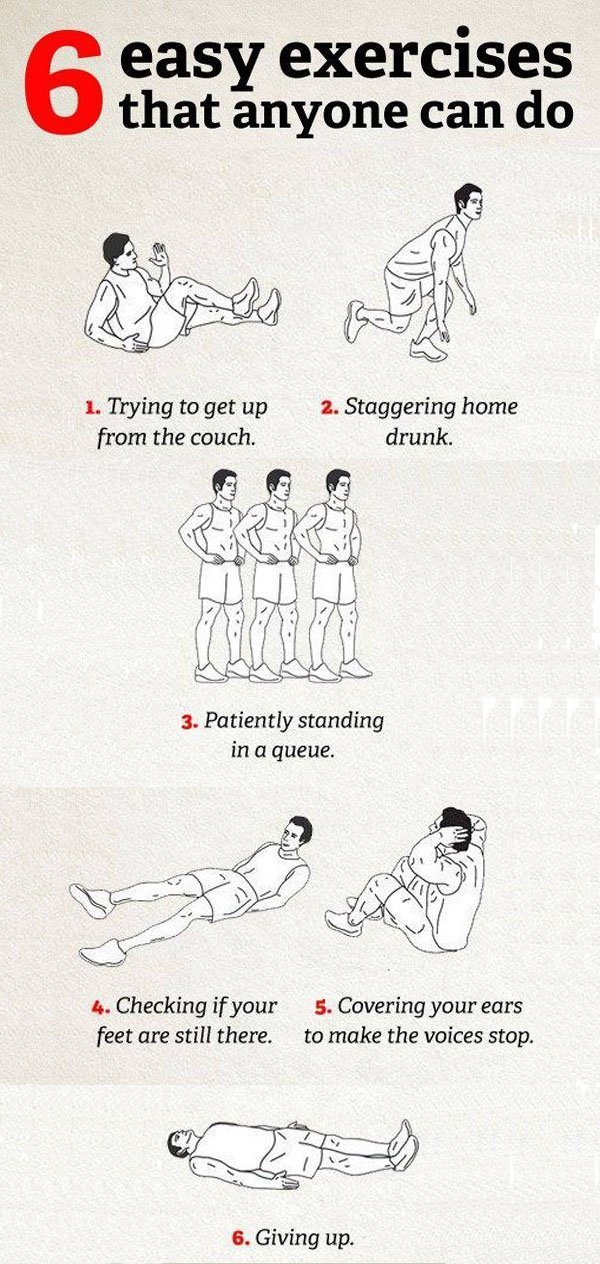 6 easy exercises that anyone can do
