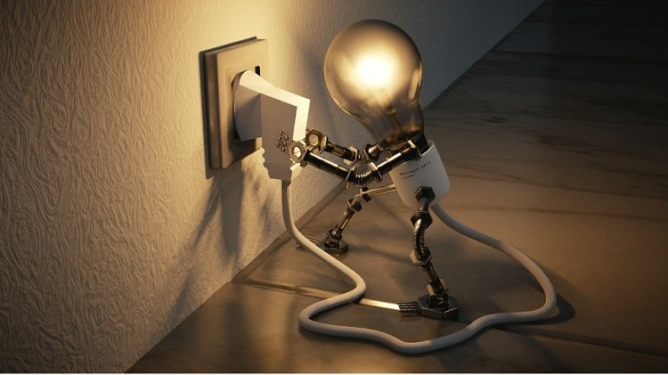 electricity idea light