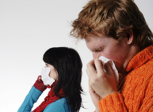 influenza  sneeze mask virus